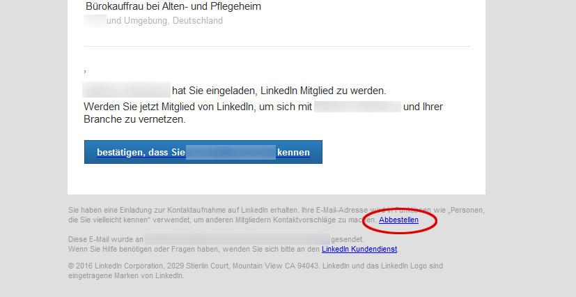 einladungen von linkedin blockieren, Einladung
