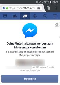 Messenger Archivieren Rückgängig